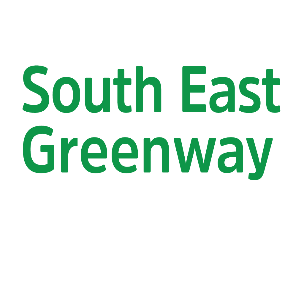 South East Greenway White Logo